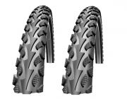 2 er Set Schwalbe Land Cruiser Black HS 450 28x1 3/8x1 5/8 (37-622) Drahtrei