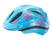 KED Kinder Fahrradhelm Meggy Modell 2017 Lightblue Flower Gr. M 52-58 cm